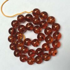 one strand 15inches long Amber Loose beads in 12mm K262
