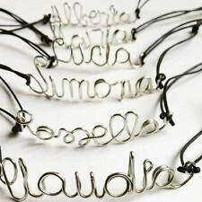Bracciale filo rame con nome scritta personalizzabile idea regalo handmade