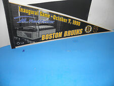 NHL 1995 BOSTON BRUINS INAUGURAL GAME @ FLEETCENTER LOGO PENNANT 12X30