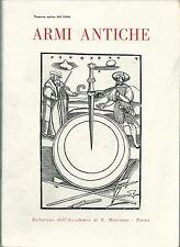 ARMI ANTICHE_BOLLETTINO ACCADEMIA DI SAN MARCIANO, 1966*_Numero Unico_Ottimo!!