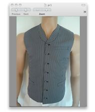 BNWT Prada Fall 2013 runway collection mens waistcoat vest retails $1200 sz48/38