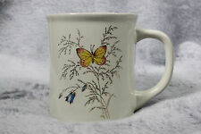 Vintage Butterfly Shiny Floral Flower Coffee Mug Tea Cup Made in Japan