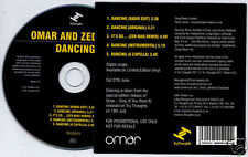 OMAR & ZED BIAS Dancing 2011 UK 5-trk promo CD Tru Thoughts