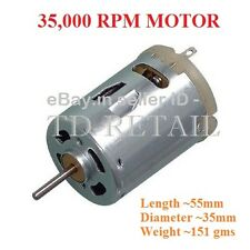 DC Motor 35,000 RPM Motor 12V for Electronics project use & Hobbyists - 1 Piece