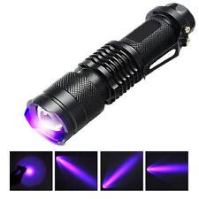 Portable Useful UV LED 365NM Ultra Violet Blacklight Flashlight Torch Light Lamp