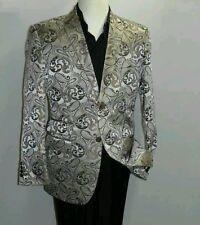 tan mens paisley sport coat new with tags $229 sale for $150 size 44 regular..