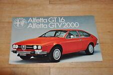 !! Prospekt Brochure Alfetta GT 1.6 / GTV 2000, 1973 !!