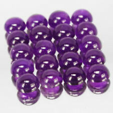 AAA Quality 25 Piece Natural Amethyst 3x3 MM Round Cabochon Gemstone Calibrated