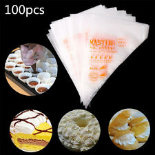 100pcs Plastic Disposable Icing Piping Pastry Bags Cupcake Cake Decorating Tools