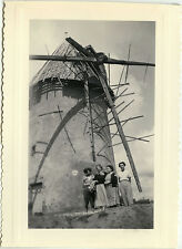 PHOTO ANCIENNE - VINTAGE SNAPSHOT - MOULIN À VENT AILES OMBRE - WINDMILL WINGS