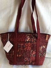NEW DONNA SHARP AUTUMN PATCH LEAH TOTE BAG HANDBAG Burgundy Green Floral