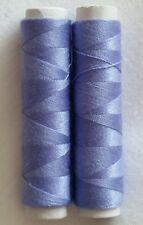 NUOVO di alta qualità 2 x scuro LILLA 50m cotone filati per cucire a mano o macchina.