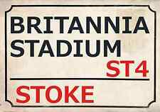 Stoke City Football Art Print Street Sign The Potters Footy Design