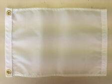 "Meal Dinner White Indoor Outdoor Nylon Wall Boat Flag Grommets 10"" X 15"""