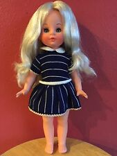 VINTAGE FURGA DOLL ANTONELLA MOD 4223 PLATINUM BLONDE HAIR BLUE SLEEPY EYES 14""