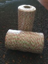 Bakers Twine Roll Red, White & Green Twine 2mm 5m  Wedding Favours  DIY Craft