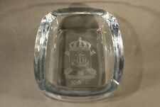 Aschenbecher Sweden Glas Wappen Anker Krone skandinavisch STROMBERGSHYTTAN