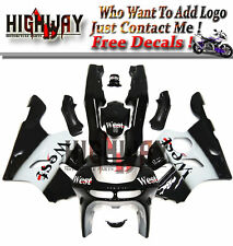 Fairings For Kawasaki ZX-6R Ninja 636 94-97 95 ABS Kit Bodywork West Black White