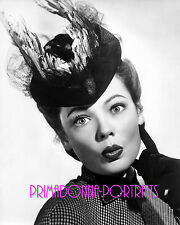 "GENE TIERNEY 8X10 Lab Photo B&W 1947 ""THE GHOST AND MRS. MUIR"" Feather Hat"
