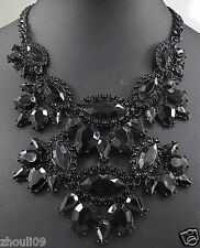 NEW Statement crystal chunky chain charm choker collar necklace pendant 911
