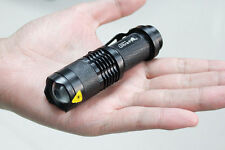 UltraFire 3 Modes Flashlight 7W 300LM CREE Q5 LED Torch Zoomable Adjustable