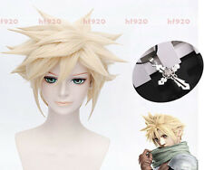 Final Fantasy VII Cloud Strife DMMD Virus Trip FF7 Cosplay Wig Free necklace