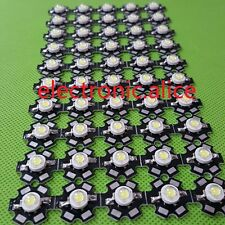 20pcs New 3W High Power cold white 10000K-15000K LED+20mm star pcb