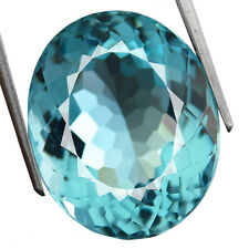 24.70ct. GORGEOUS SANTA MARIA BLUE AQUAMARINE QUARTZ OVAL FINE HAND CUT 17x 20MM