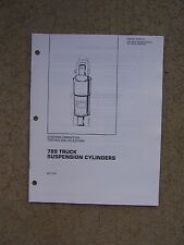 1987 Caterpillar Suspension Cylinders 789 Truck Operation Testing Manual  T