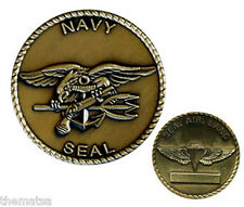 NAVY SEAL TRIDENT SEA AIR  LAND BRONZE  MILITARY CHALLENGE COIN
