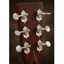 Waverly Guitar Tuners with Vintage Oval Knobs, for Solid Pegheads, Nickel, 3L/3R