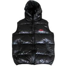 Shiny glanznylon daunenweste daunenjacke down vest down jacket wetlook black neu