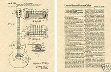 GIBSON LES PAUL PATENT Art Print guitar Ted McCarty 1955 READY TO FRAME!!!!!!!!