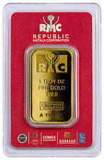 Republic Metals Corporation 1 oz. Gold Bar (Sealed with Red Assay Card) SKU44285