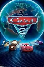 DISNEY PIXAR CARS 2 MOVIE ONE SHEET 22x34 NEW POSTER LIGHTNING McQUEEN FREE SHIP