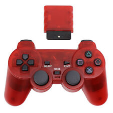 Wireless Dual Vibration Joypad Gamepad Controller Pad 2.4GHz For Sony PS2 Red