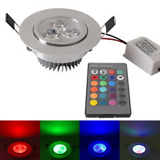 5W RGB LED Recessed Ceiling Down Light Lamp Bulb Multi Color with Remote Control
