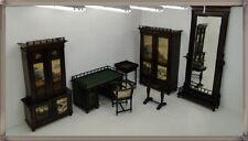 Jagdzimmer-Herrenzimmer-Komplett-Kasten-Anrichte-Tisch-Stuhl-Spiegel-Beistellt