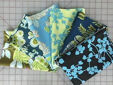 OOP Amy Butler Belle Fabric Fat Quarter Bundle in Blue and Green