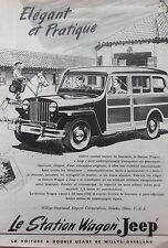 publicité   JEEP STATION WAGON  WILLYS OVERLAND EXPORT CORP  en 1948 ref. 5577