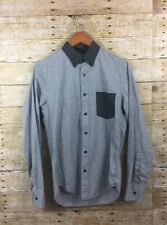 J.Crew Slim Secret Wash Shirt in Heather Smoky Coal Mens Small Button Front $79