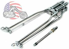 DNA Stock Chrome Wishbone Vintage Springer Front End w/ Axle Kit Harley Chopper