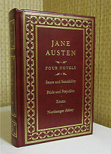 WORKS OF JANE AUSTEN, Leather, PRIDE AND PREJUDICE, EMMA, SENSE AND SENSABILITY
