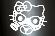 1 x 2 Plott Aufkleber Hello Gasmask Kitty Gas Mask Gasmaske Biohazard Sticker