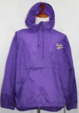BOSTON MARATHON Running Jacket Windbreaker Hoodie 1/2 Zip XL Purple SEE PHOTOS!
