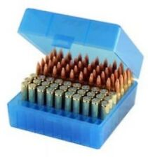 (2) Berry's 100 Rd BLUE Ammo Rifle Boxes .223 223 .222 222 17 Rm5.56 AR 15 005