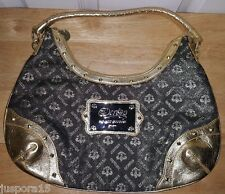Beyonce Dereon NWOT Woman's Black/Gold Logo Design Shoulder Handbag