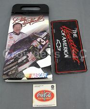 Vintage Lot of 3 NASCAR Inspired Items: Earnhardt Cooler Chevy Plate Coke Decal