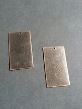 Metal Stamping Blanks Antiqued Copper Metal Rectangle Blank Charms Pendants 10pc