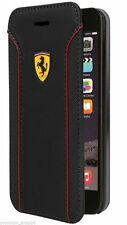 Official Ferrari Black PU Leather Booktype Case for iPhone 6/6S 4.7""